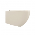 Wall mounted toilet Lenta - 53cm Ivory Matt
