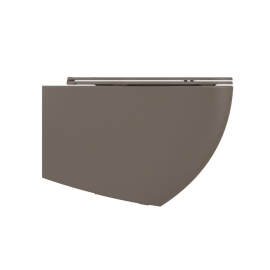 Wall mounted toilet Lenta - 53cm Taupe Matt